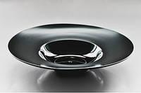 """Тарелка черная для пасты 10"""" (25,5см, 300мл) матово-глянцевая F2509BY-10L"""