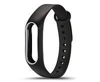 Силиконовый ремешок для фитнес-браслета Xiaomi Mi Band 2 - Black-White