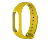 Силиконовый ремешок для фитнес-браслета Xiaomi Mi Band 2 - Yellow-White