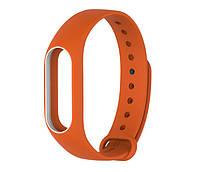 Силиконовый ремешок для фитнес-браслета Xiaomi Mi Band 2 - Orange-White