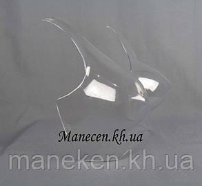 Манекен полуобъемный женский р42-44 бюст с лямкой прозрачный для полок, фото 2