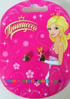 Серьги Нежные бабочки Принцесса AS12214
