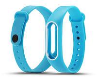 Силиконовый ремешок для фитнес-браслета Xiaomi Mi Band 2 - Blue-White