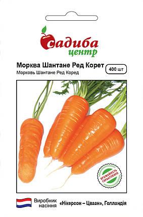 Семена моркови Шантане Ред Коред (Nickerson Zwaan / САДЫБА ЦЕНТР) 400 семян — среднеранний сорт (100-110 дней), фото 2
