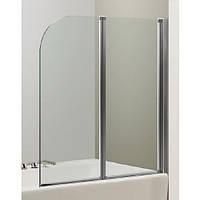 Штора на ванну Eger 599-121CH 120*138 профіль хром, скло прозоре