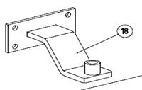 Крепление переднее для распашных ворот ASW.5018