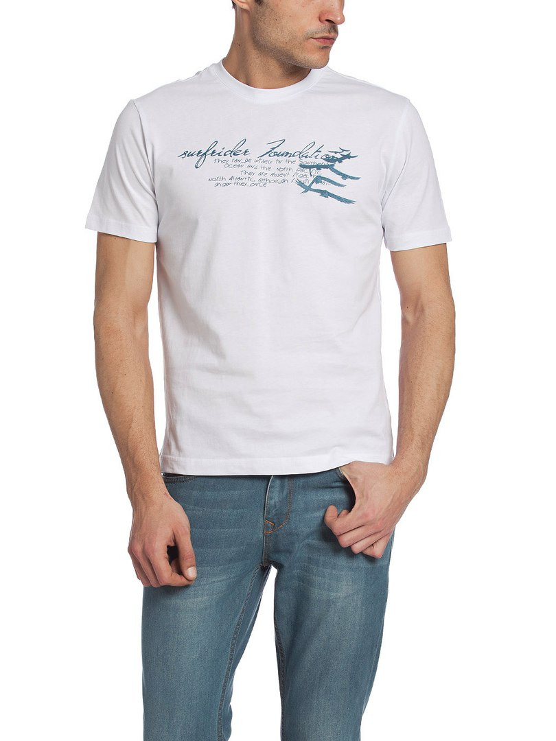 Чоловіча футболка LC Waikiki білого кольору з написом на грудях