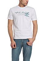 Мужская футболка LC Waikiki белого цвета с надписью на груди