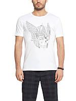 Мужская футболка LC Waikiki белого цвета с рисунком череп, фото 1
