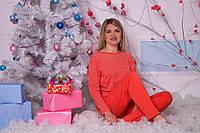 Пижама женская оранжевые горошки S