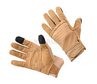 Перчатки Defcon 5 ARMOR TEX GLOVES WITH LEATHER PALM COYOTE TAN XL ц:coyote tan