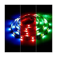 Светодиодная лента 12в в силиконе - Feron LS607 RGB кристалл на белом 5050 60шт 14.4Вт/м