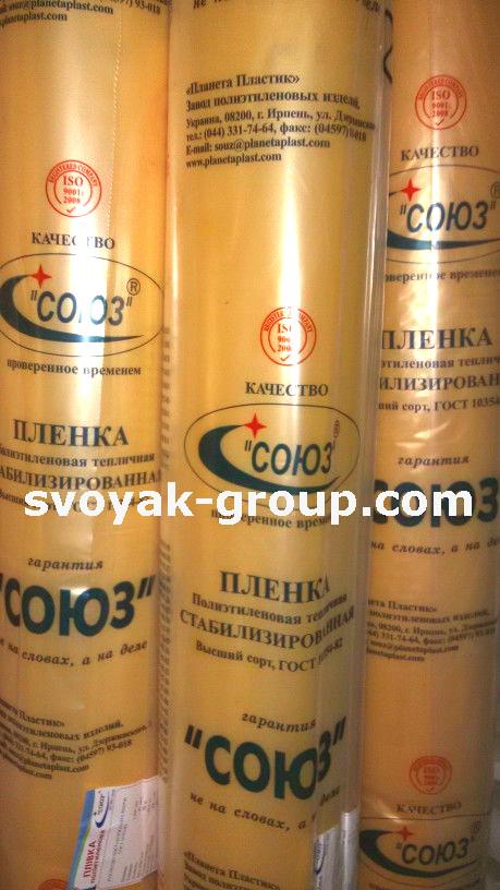 Плівка теплична (UV4%), 80 мкм, 6м. х50м., 24 місяці стабілізації.