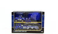 Детский набор полицейского: каска, 2 машины, фигурки
