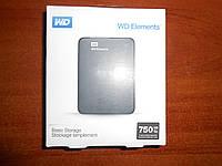 "Съемный жесткий диск (карман) 2.5"" WD 750Gb  USB3.0 (WDBUZG7500ABK-EESN)"