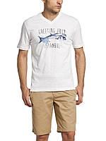 Мужская футболка LC Waikiki белого цвета с надписью Greeting from istanbul, фото 1