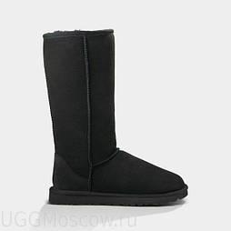 Натуральные угги UGG Australia (Реплика ААА+) Classic Tall (черные). Model: 5815