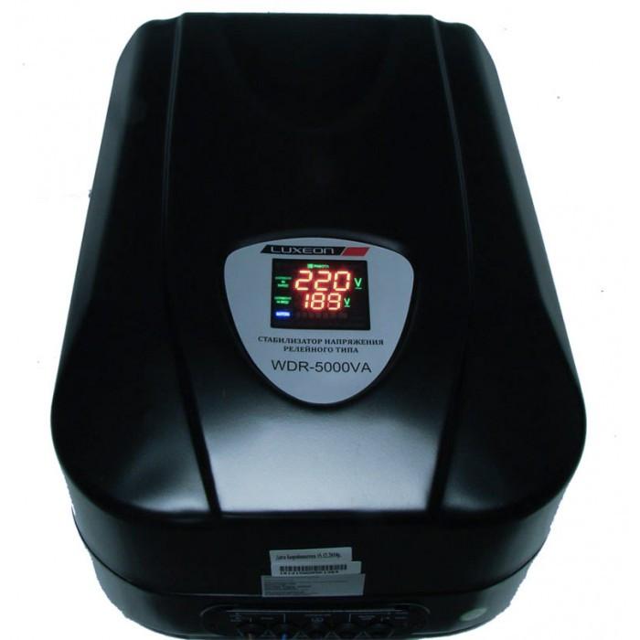 Стабілізатор напруги Luxeon WDR-5000 релейний для дачі