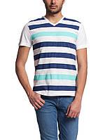 Мужская футболка LC Waikiki белого цвета в сине-голубую полоску