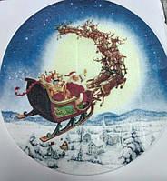 """Вафельная картинка """"Новогодние"""" d 20см(код 04562)"""