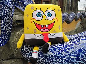 Мягкая игрушка - подушка ручной работы Губка Боб