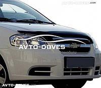 Дефлектор на капот (мухобойка) для Chevrolet Aveo