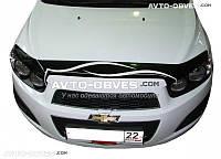 Дефлектор на капот (мухобойка) Chevrolet Aveo 2011-2016