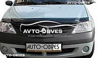 Дефлектор на капот (мухобойка) для Dacia Logan 2004-2008