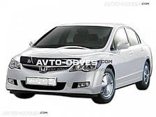 Дефлектор на капот (мухобойка) для Honda Civic