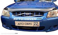 Дефлектор на капот (мухобойка) для Hyundai Accent