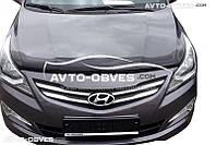 Дефлектор на капот (мухобойка) Hyundai Accent / Solaris 2014-2016