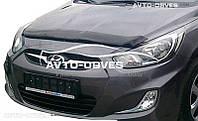 Дефлектор на капот (мухобойка) Hyundai Accent / Solaris 2011-2014