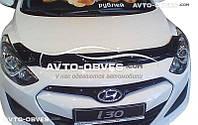 Дефлектор на капот (мухобойка) для Hyundai i30