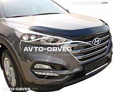 Дефлектор на капот (мухобойка) для Hyundai Tucson 2015-2017