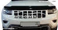 Дефлектор на капот (мухобойка) Jeep Grand Cherokee 2010 - 2016