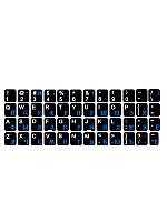 Аксессуар к ноутбукам NoName наклейка для клавиатуры (черная)