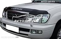 Дефлектор на капот (мухобойка) для Lexus LX 470 с логотипом