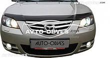 Дефлектор на капот (мухобойка) для Mazda 3 2005-2008 Alexa
