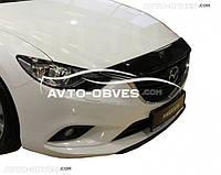 Дефлектор на капот (мухобойка) для Mazda 6 2013-2017