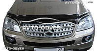 Дефлектор на капот (мухобойка) для Mercedes M class W164