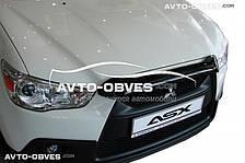 Дефлектор на капот (мухобойка) для Mitsubishi ASX короткий вариант