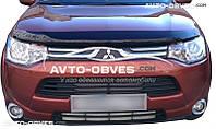 Дефлектор на капот (мухобойка) для Mitsubishi Outlander 2013-2015