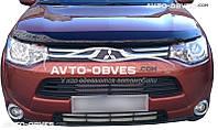 Дефлектор на капот (мухобойка) для Mitsubishi Outlander 2015-2017