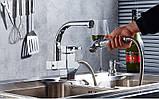 Смеситель кран однорычажный с лейкой на кухню для мойки раковины, фото 2