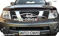 Дефлектор на капот (мухобойка) Nissan Navara 2005-2010