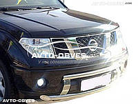 Дефлектор на капот (мухобойка) для Nissan Pathfinder 2010-2014 без логотипа
