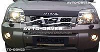 Дефлектор на капот (мухобойка) для Nissan X-Trail 2003-2006 logo