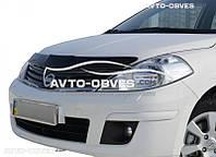 Дефлектор на капот (мухобойка) для Nissan Tiida