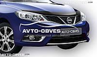 Дефлектор на капот (мухобойка) для Nissan Tiida 2015-…