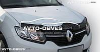 Дефлектор на капот (мухобойка) Renault Logan 2013 - …